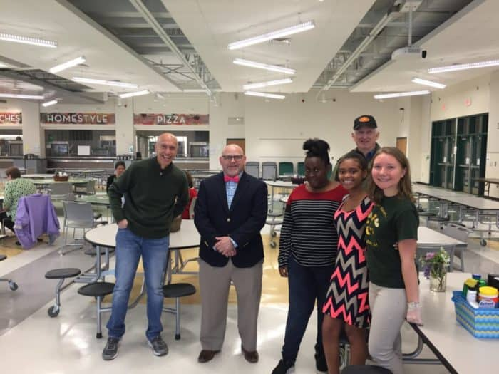 The Aiken High School Rotary Interact Club provided a venue and food and beverages in support of the ACPSD Teacher Forum's annual Breakfast with the Board.